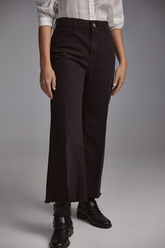 Pedro del Hierro Sustainable palazzo trousers Black