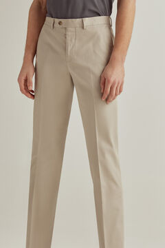 Pedro del Hierro Classic fit easy-iron stain resistant travel trousers Beige