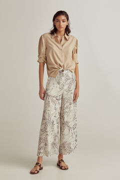 Pedro del Hierro Trouser-skirt with pockets Blue
