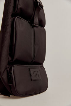 Pedro del Hierro Nylon crossbody bag Black