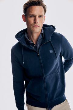 Pedro del Hierro Hooded sweatshirt Blue