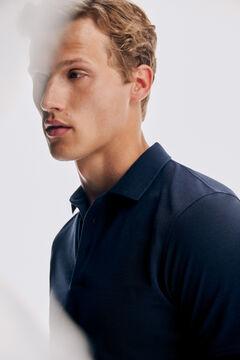 Pedro del Hierro Short sleeve polo shirt Blue