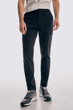 Pedro del Hierro Cargo trousers with comfort waistband Black
