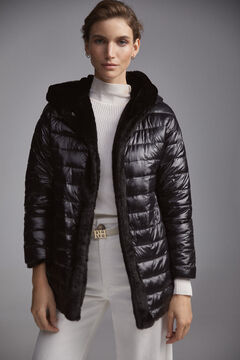Pedro del Hierro Reversible synthetic parka Black