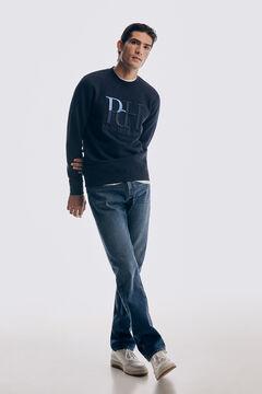 Pedro del Hierro Embroidered logo sweatshirt Blue