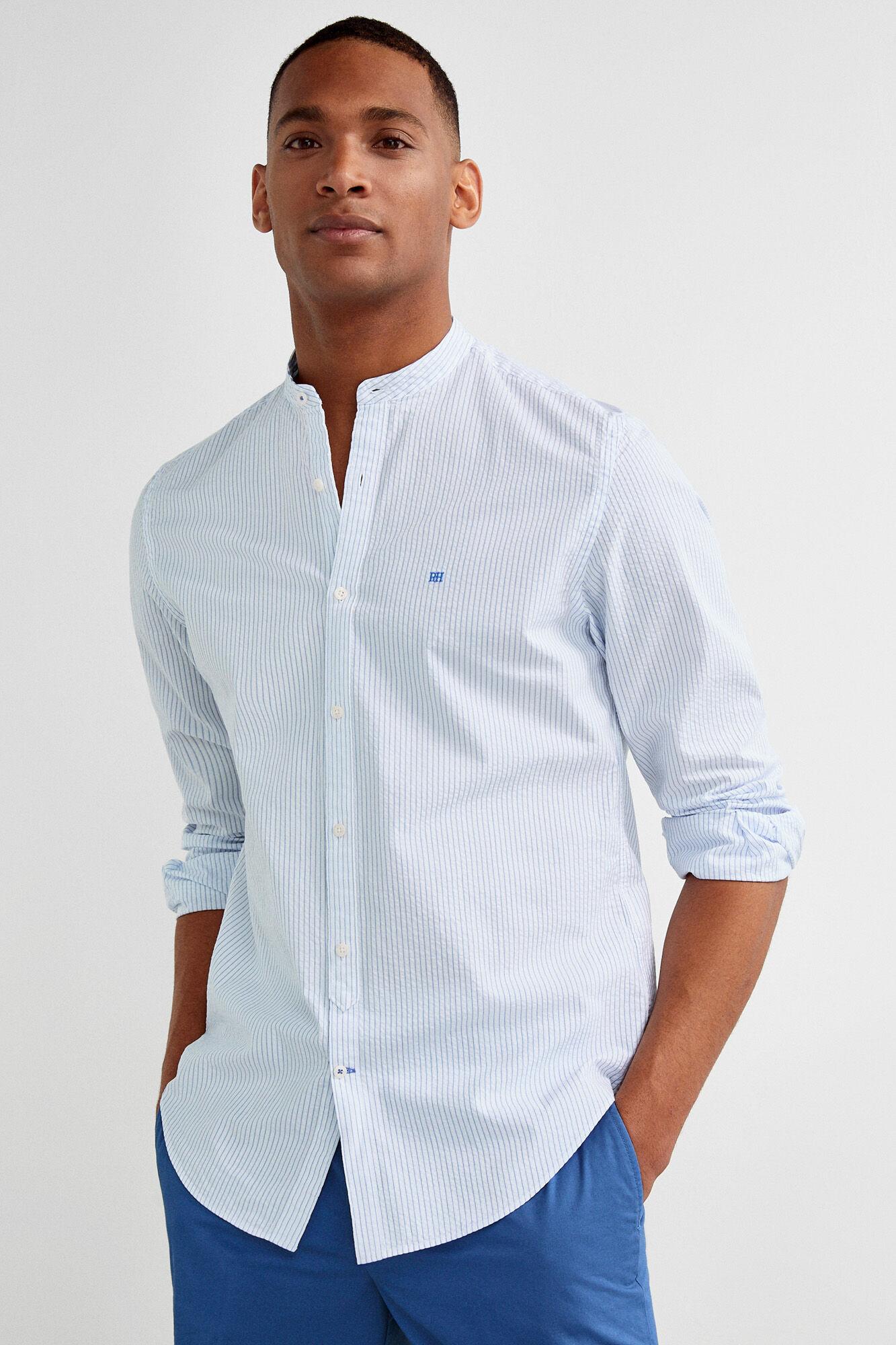 d7953b3693 Striped shirt with Mao collar | Shirts | Pedro del Hierro Man & Woman
