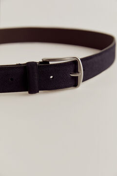 Pedro del Hierro plain casual split leather belt Blue
