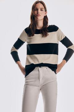 Pedro del Hierro Striped jumper Black