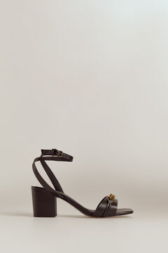 Pedro del Hierro Nappa leather sandal Black