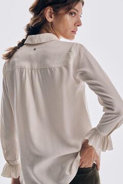 Pedro del Hierro 100% TENCEL® Lyocell denim shirt Beige