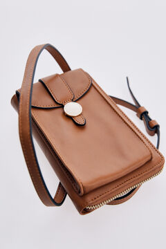 Pedro del Hierro Mobile bag with round pin Beige