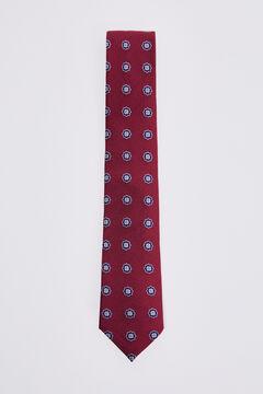 Pedro del Hierro Geometric motif tie Red