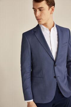 Pedro del Hierro Tailored fit birdseye blazer Blue