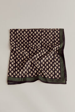 Pedro del Hierro Irregular spotty print shawl Green