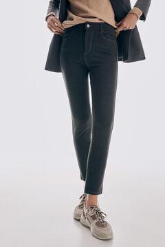 Pedro del Hierro Skinny fit stretch jersey-knit 5-pocket trousers Grey