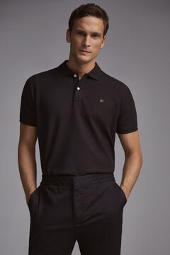 Pedro del Hierro Short-sleeved PdH logo polo shirt Black