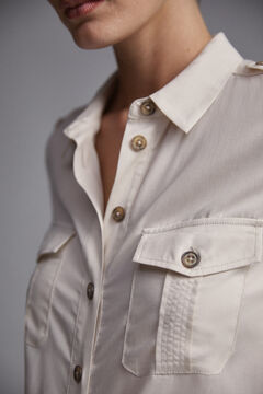 Pedro del Hierro Shirt blouse  Grey