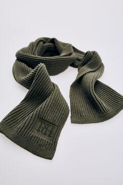 Pedro del Hierro Ribbed knit scarf Grey