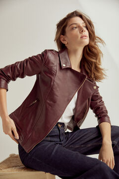 Pedro del Hierro Perfect nappa jacket Red