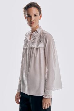 Pedro del Hierro Embroidered yoke T-shirt  White