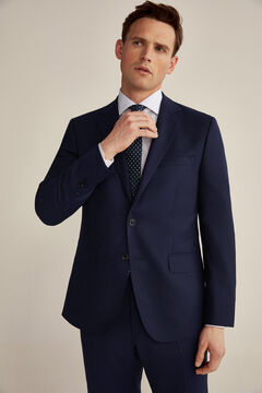 Pedro del Hierro Tailored fit blue blazer Blue
