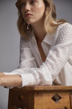 Pedro del Hierro Plumetis blouse Beige