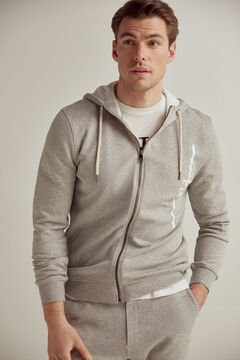 Pedro del Hierro Zip-up hooded sweatshirt Grey
