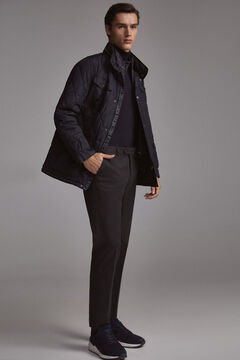 Pedro del Hierro Quilted jacket with removable lining Blue