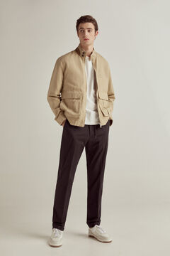 Pedro del Hierro Washed linen PdH jacket Beige