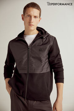 Pedro del Hierro Zip-up hooded cardigan Black