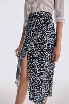 Pedro del Hierro Printed skirt Blue