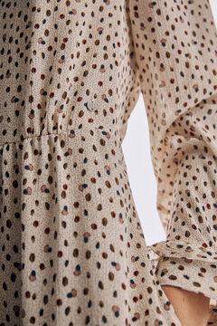 Pedro del Hierro Vestido romántico estampado Marfil