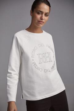 Pedro del Hierro Raglan-sleeve logo sweatshirt Beige