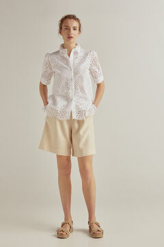 Pedro del Hierro Embroidered fabric shirt blouse White