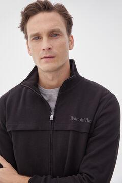 Pedro del Hierro Zipped sweatshirt Black