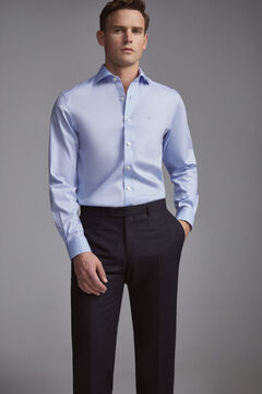 Pedro del Hierro Camisa de vestir tech-non iron lisa tailored Blue
