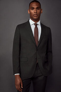 Pedro del Hierro Americana traje tailored fit Gris