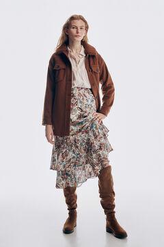 Pedro del Hierro Printed flounced skirt Several