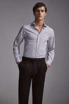 Pedro del Hierro Camisa de vestir Tech Non-Iron rayas tailored Gris