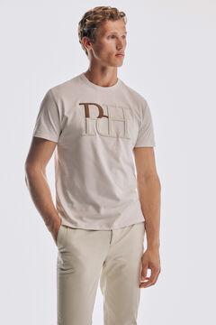 Pedro del Hierro Logo short sleeve t-shirt Ecru