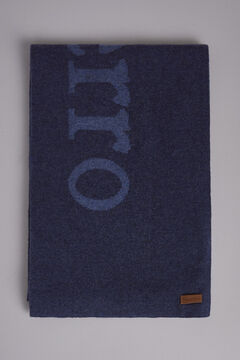 Pedro del Hierro Knitted big logo scarf Blue