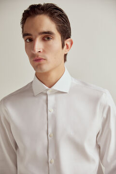Pedro del Hierro Slim fit textured non-iron dress shirt White