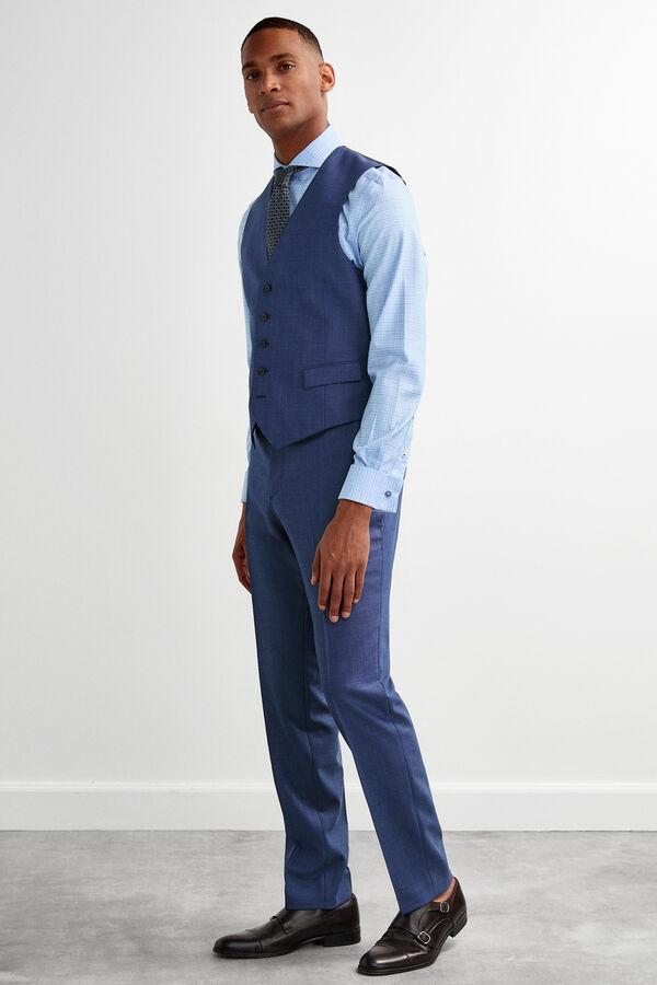 89765ecb7e Pedro del Hierro Pantalón traje slim fit Azul