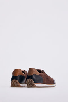 Pedro del Hierro Sneaker icono piso goma Marrón