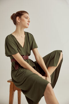 Pedro del Hierro Gathered midi dress Green