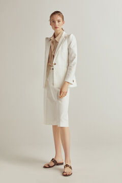 Pedro del Hierro Corduroy jacket in 39% organic cotton Beige