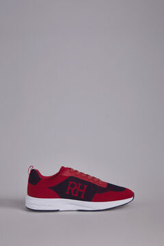 Pedro del Hierro Leather rubber-soled sneakers Red
