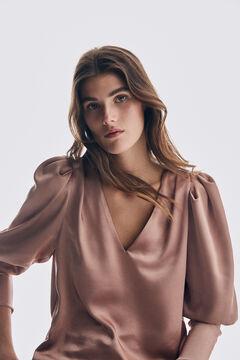 Pedro del Hierro Sleeve detail blouse Pink