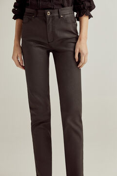 Pedro del Hierro Rubberised push-up trousers Black