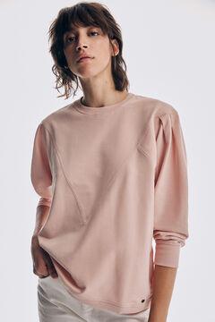 Pedro del Hierro Sweatshirt with long puffed sleeves Pink